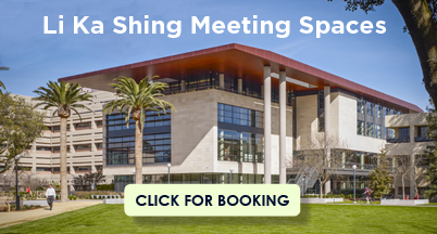 Li Ka Shing building exterior. Li Ka Shing Meeting Spaces. Click for booking.