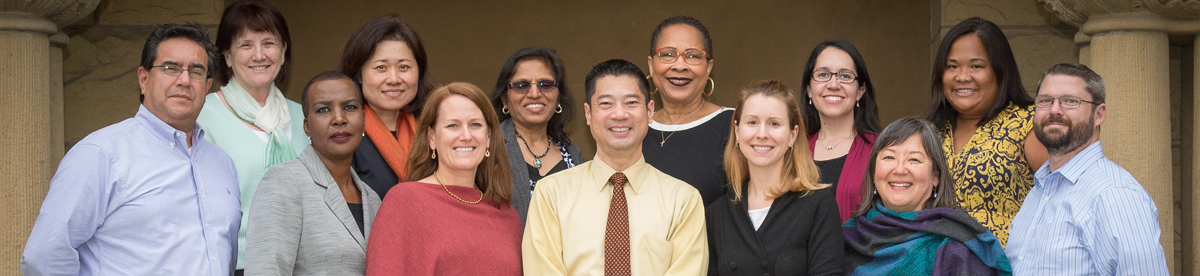 The Stanford Conferences team: (left to right) Anthony Aguilar, Carol Leynse, Tanya Walker, Chong Johnson, Suzanne Bennett, Philip Gin, Carolyn Tomlin, Natalia Guillen, Joline McQuillan, Suzette Escobar