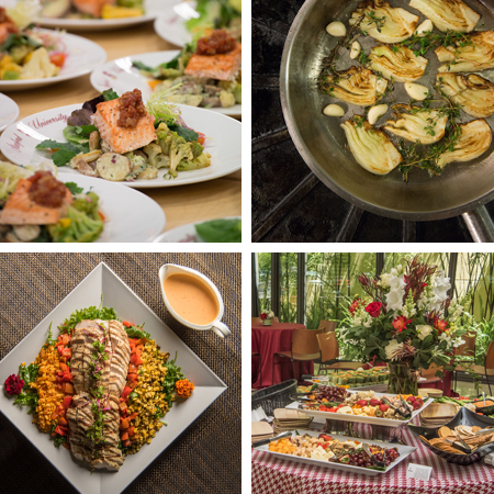 Stanford Catering photo montage of foods.