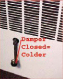 Heater with Damper Closed