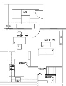2 Bedroom First Floor Top View Floorplan