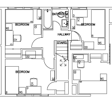 3 Bedroom Two Story - Second Floor Floorplan