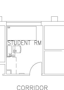 Florence Moore Single Room - Top View Floorplan