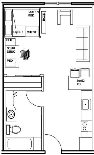 Studio Apartment Vs 1 Bedroom kennedy graduate residences | stanford r&de