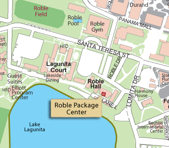 Roble Package Center map
