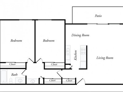 Sample Floor Plan - Two-bedroom - Top View