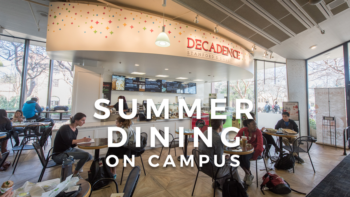 summer dining on campus
