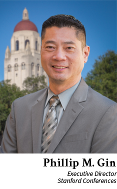 Phillip M Gin, Executive Director of Stanford Conferences