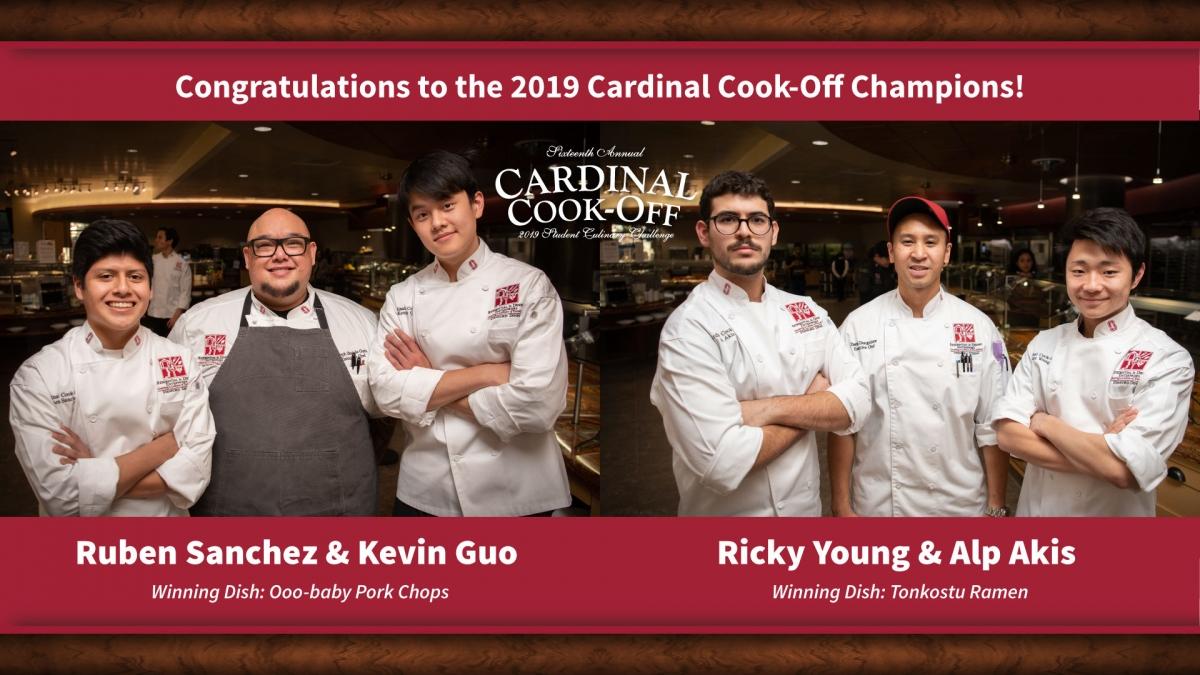 2019 Cardinal Cook-off winners