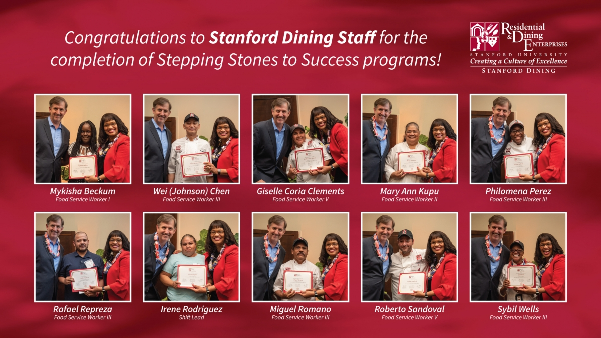 Congratulations to Stanford Dining Stepping Stones to Success Graduates