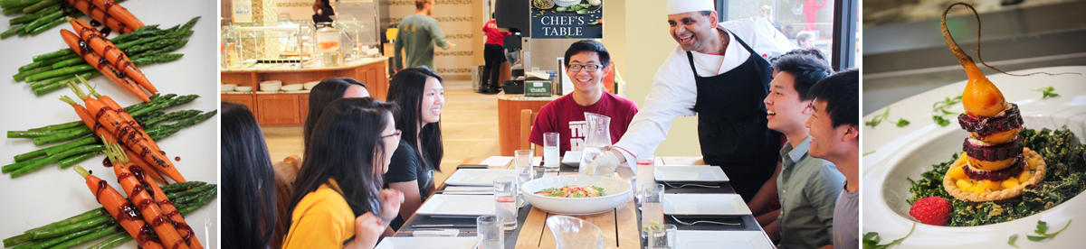 Students having lunch at Florence Moore Dining Hall
