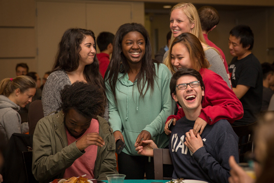 Students enjoy Midnight Breakfast