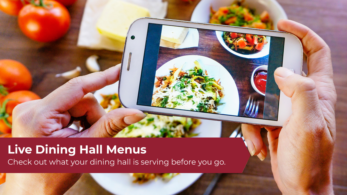 Live Dining Hall Menus