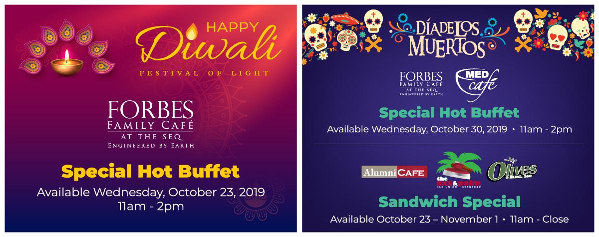 Diwali and Dia de Los Muertos Specials