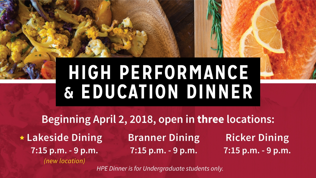 High Performance and Education Dinner
