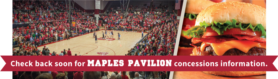 Maples Pavillion concessions info coming soon