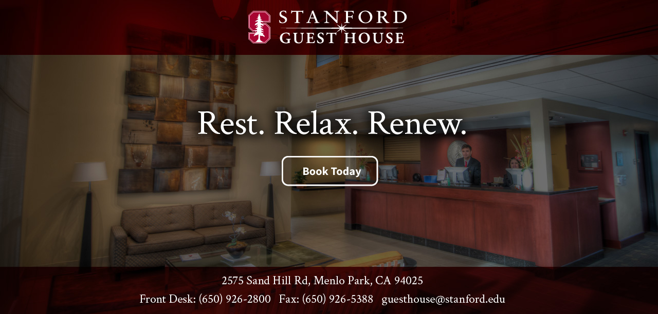 Rest. Relax. Renew.. Book Today.