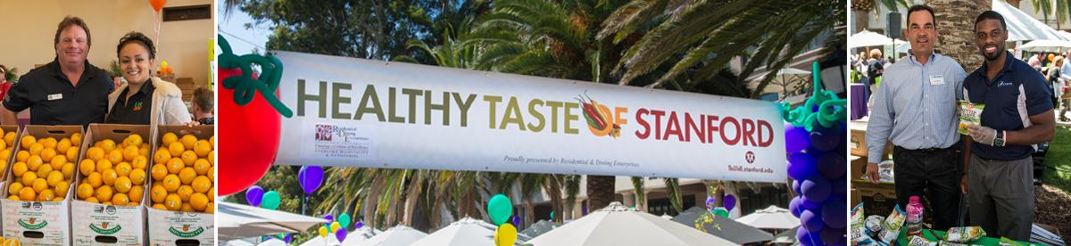 Healthy taste of Stanford photo montage