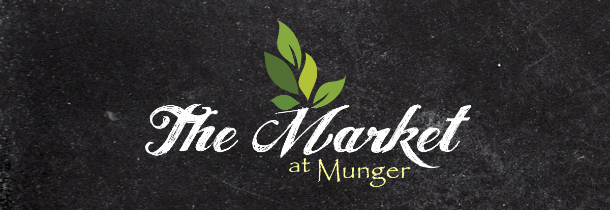 Munger Market logo on chalkboard