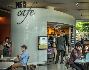 Med Cafe seating area