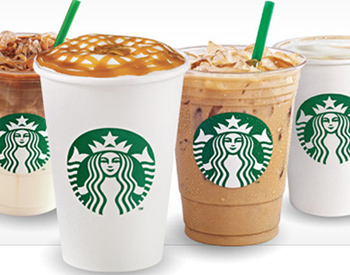 Starbucks drink selection