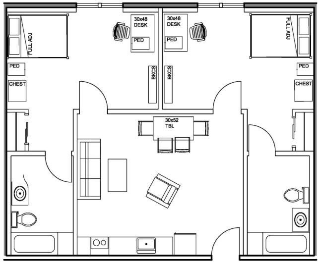 2 Bedroom / 2 Bathroom Apartment