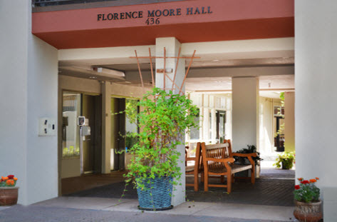 Florence Moore Hall, Housing Front Desk entrance