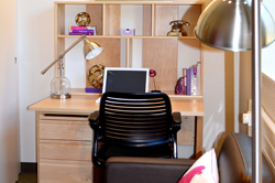 Bedroom Chair and Desk - Junior Studio with Shared Kitchen
