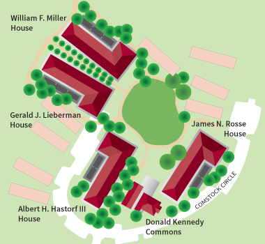 Map of Kennedy Graduate Residences