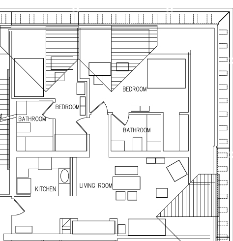 1 - Bedroom Top View Floorplan