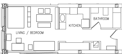 Studio Top View Floorplan