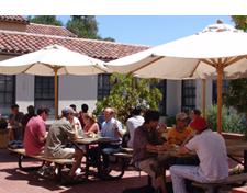 Lakeside dining patio