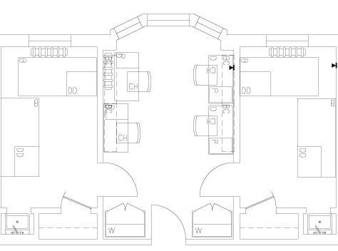 Roble Quad Room Floorplan