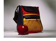 lunch bag with apple
