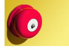 Red alarm bell