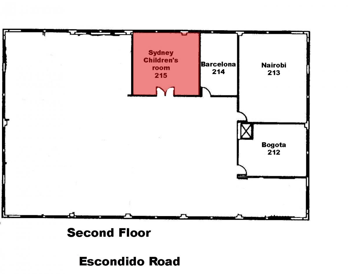 Sydney Children's Room 215 Second Floor Floorplan