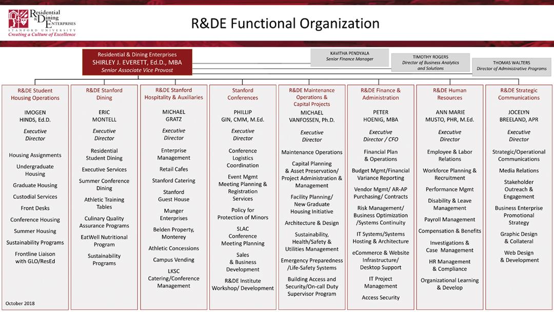 R&DE Organizational structure