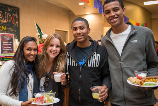 Students dining at Stern Dining Hall