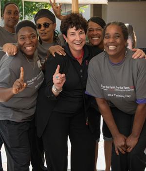 R&DE employees at R&DE Women's Leadership training