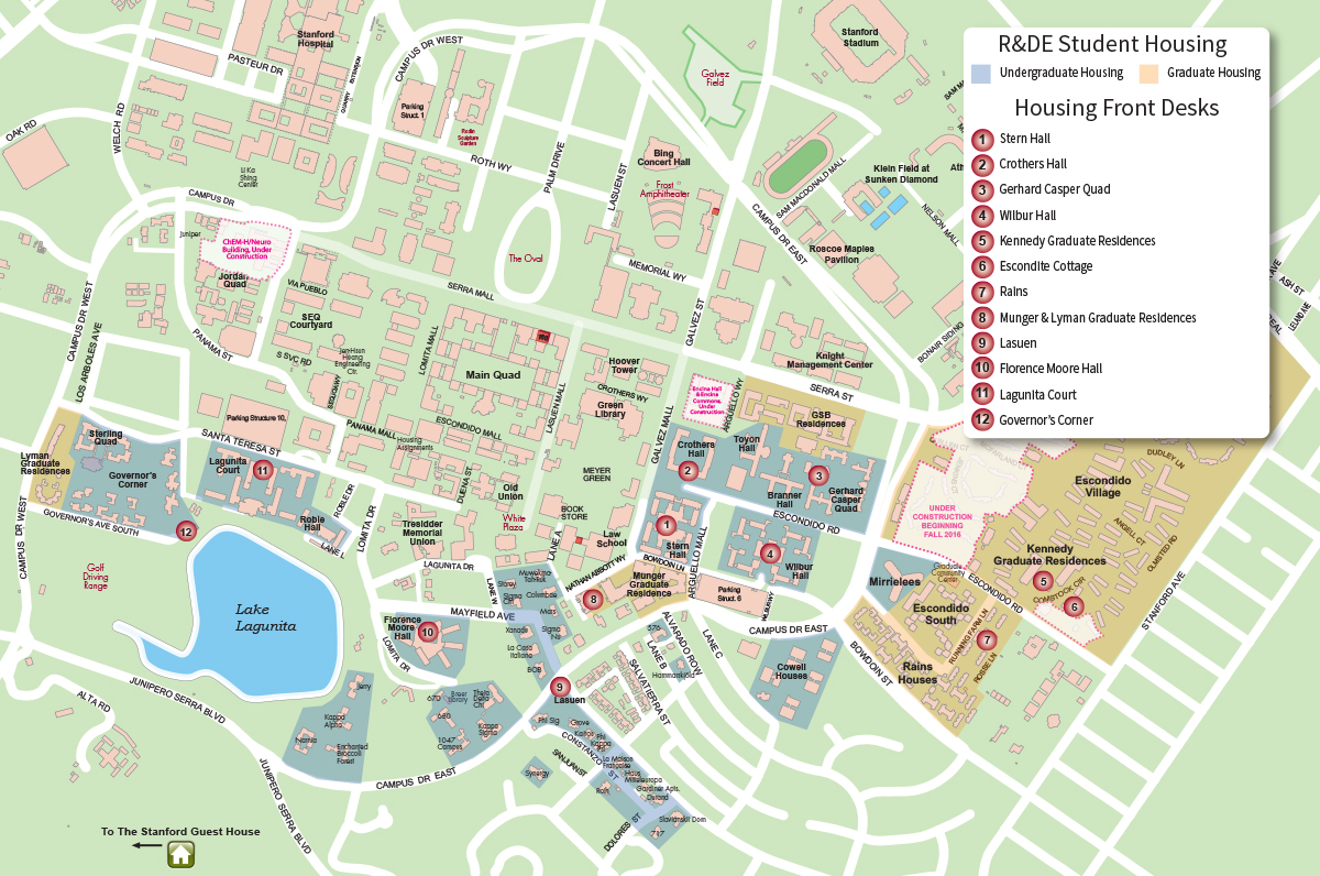 R&DE Student Housing map
