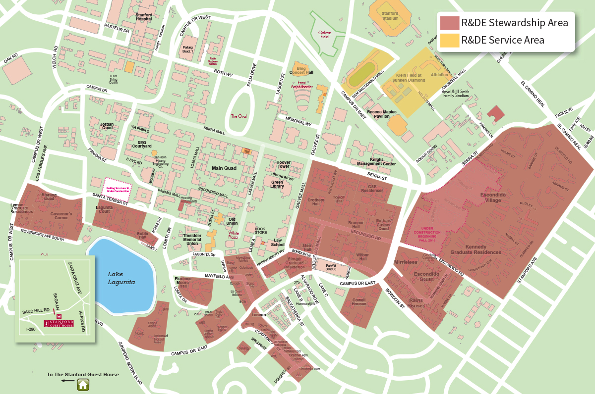 R&DE Stewardship and Service Areas on campus