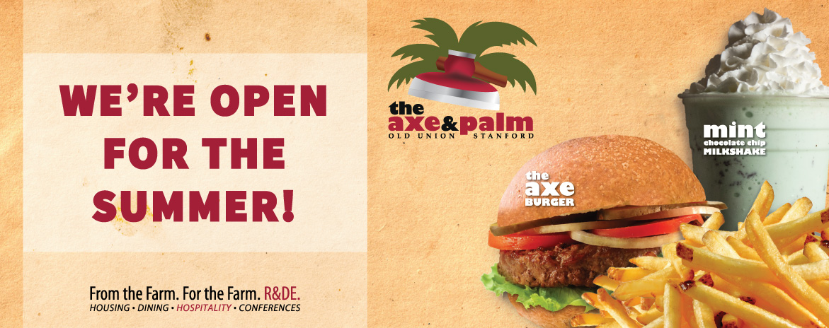 The Axe & Palm is open for summer