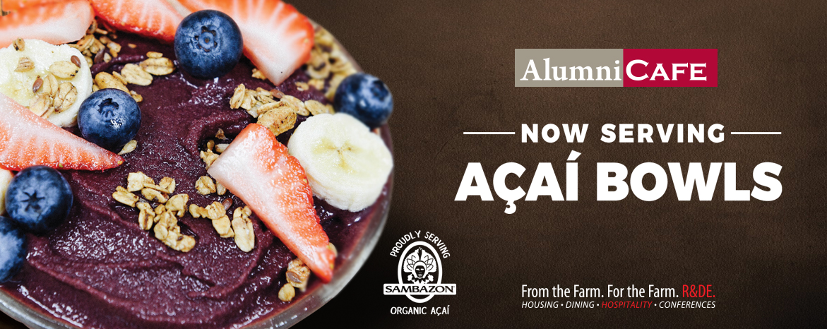 Now Serving Acai Bowls at Alumni Cafe