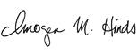 Imogen Hinds signature