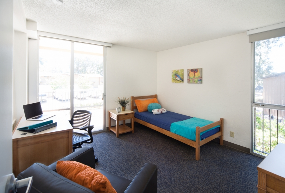 Escondido Village Midrise - Two-bedroom Efficiency Apartments, available for single students Bedroom