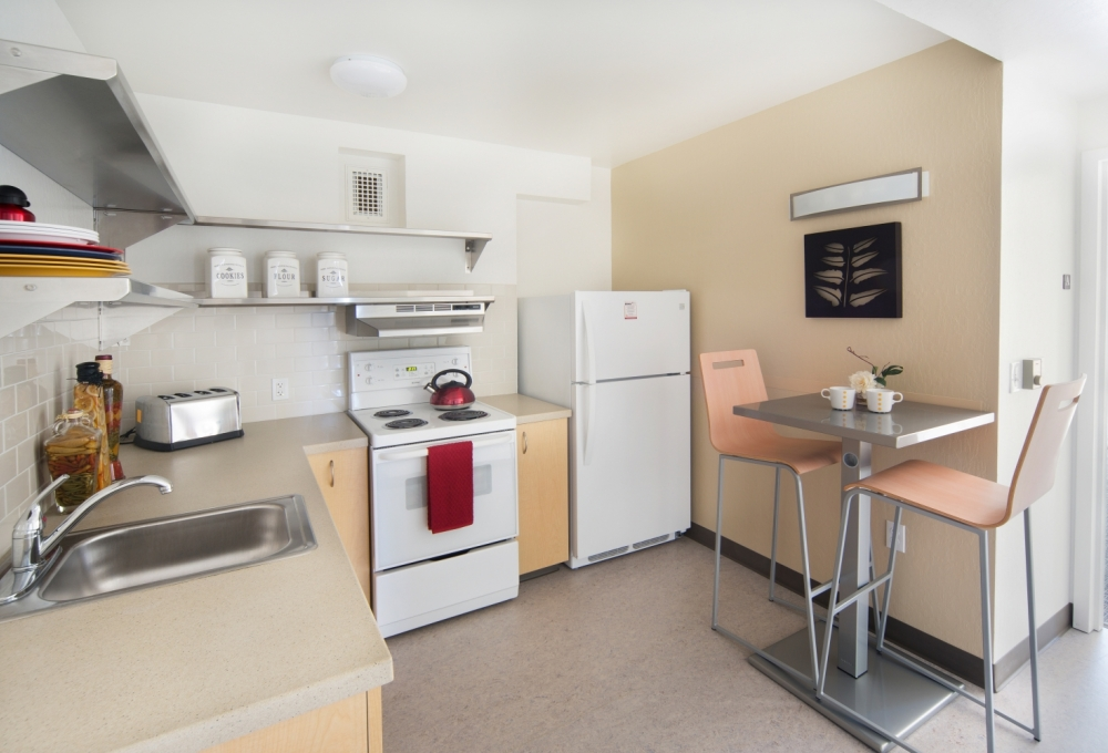 Escondido Village Midrise - Two-bedroom Efficiency Apartments, available for single students Kitchen