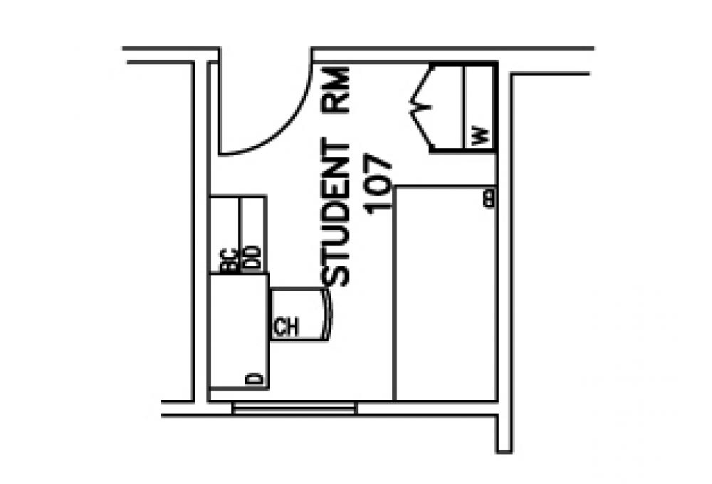 Single room - Top View