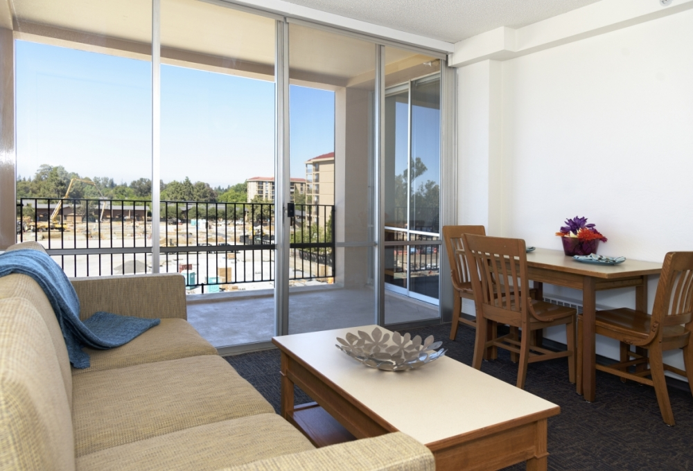 Escondido Village Midrise - One-Bedroom, One-Bath Compact McFarland Mid-rise Apartments - available for couples without children Living Room