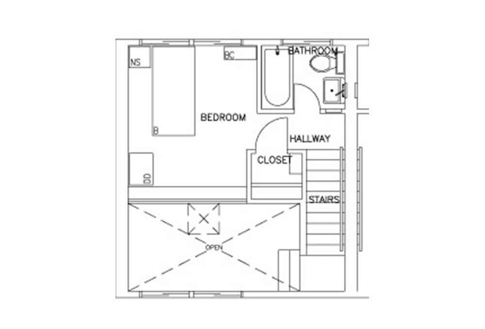 Escondido Lowrise - Two Story - 1-Bedroom - Second Floor Floor Plan