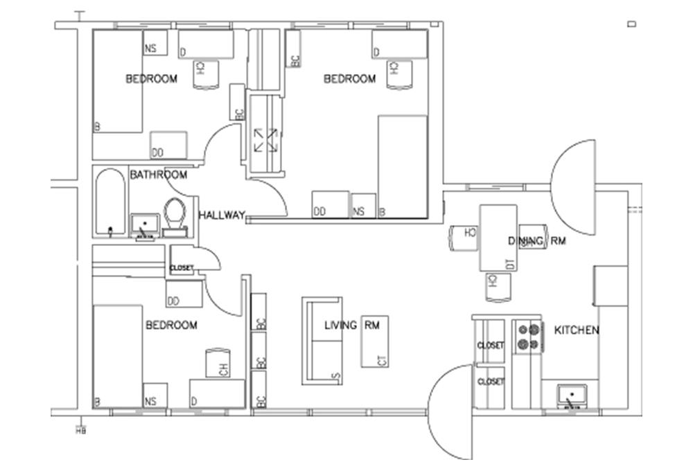 Escondido Lowrise - Single Story - 3-Bedroom